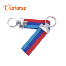 M Tech M Sport Leather Belt Chrome Keyring Keychain For BMW E46 E39 E60 F30 E90 F10 F30 E36 X5 E53 E30 E34 X1 X3 M3 M5 Key Cha