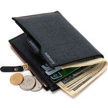 New arrival Fashion Men's leather wallet with zipper coin pocket male purse with removable card holder