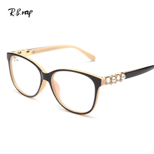 Anti-Radiation Computer Glasses Diamond Optical Frame Anti Blue Rays Men Women Butterfly Eyeglasses Frame Unisex UV400 Glasses(China)