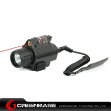 Greenbase M6 Tactical LED Flashlight and Red Laser Sight Combo with Remote Handle and 20mm Mount For Glock 17 19  Hunting Rifle