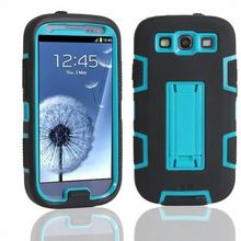 For Coque Samsung Galaxy S3 Neo Case Silicone Plastic Hybrid Armor Case Samsung Galaxy S3 Case Shockproof 3 in 1 Dous Back Cover