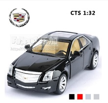 High Simulation Exquisite Model Toys: ShengHui Car Styling Cadillac CTS Luxury Sedan Model 1:32 Alloy Car Model Excellent Gifts(China)