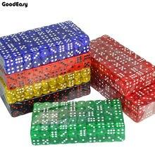 20PCS/SET 7 Colors Casino Dice Set 16mm Acrylic/Plastic Digital Dice Drinking Dice Gambling Translucent Dice 6 Sides Poker Dice(China)