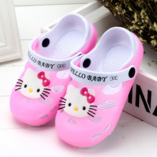 2017 Summer Baby Girl Sandals Shoes Children Hello Kitty Shoes Toddler Girls Sandals Kids Slides Slippers Sandals EU24-35