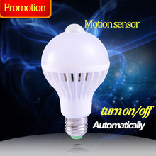 E27 PIR Motion Sensor Bulb Smart Led Lamp E27 5W 7W 9W 110V Infrared Motion Detection Ampoule Led 220V Lampadas Led for Home