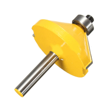 1/4'' 45 Degree Cutter 6.35mm Shank Miter Router Bit Steel Handle Milling Woodworking Drilling Router Bit Power Tool