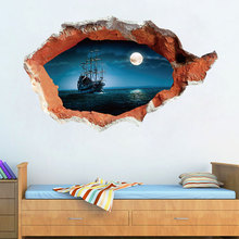 3D Ocean Seaview Removable Vinyl Wall Sticker Art Mural Room Decor Wall Decals Sticker Home Decoration Accessories
