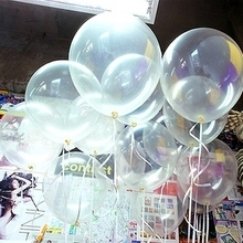 12pcs 12inch transparent latex balloon magic props balls romantic wedding decoration ballons helium clear balloon party supplies