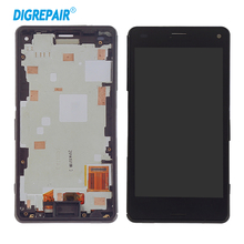 4.3 Inch Display For Sony Xperia Z3 Mini Compact D5803 D5833 LCD Touch Screen Digitizer Replacement Assembly Parts With Frame