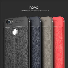 PU Leather Back Case For Huawei Nova 2 Plus Soft TPU Luxury Cover Shockproof Mobile Phone Cases For Huawei Nova 2 Plus case(China)