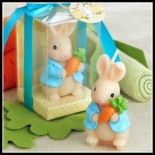 Lovely  Rabbit Candles Child Birthday Candle Bunny Decorative Candles Birthday candles for Cake Decoration