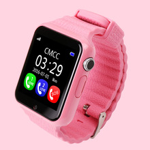 Best Christmas Baby watch with SIM Card Slot SOS GPS LBS AGPS Kids Tracker Watch Phone 2G/GSM