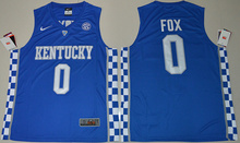 Nike Jersey - Royal Blue  2017 Kentucky Wildcats De'Aaron Fox 0 College  Hype Elite