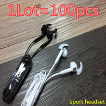 HOT! high quality 100pcs/lot S7 Headsets In-ear Earphones Headphones Hands-free with Mic Logo For Samsung HuaWel Nokia HTC Xiaom