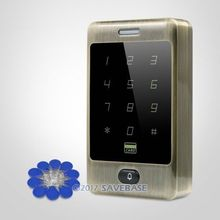 HOMSECUR Waterproof Green Bronze 13.56Mhz IC Access Control with Metal Case+Backlight