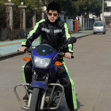 Outdoor ride coverall one piece  motorcycle rain coat rain pants setthickening battery car one piece waterproof