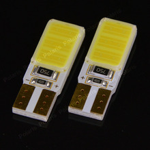1Pcs New 2015 High Quality T10 W5W COB Canbus No Error Free Power Car Auto Light Source LED Bulb Backup Lamp White 194 168 501