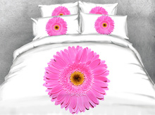 round flower bed bedding sets queen king twin 3D printed pink sunflower comforter quilt duvet cover coverlet bed cloth sheets