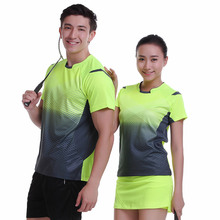 Badminton wear short-sleeved shirt suit men/women's clothes ball movement breathable sportswear Free shipping(China)