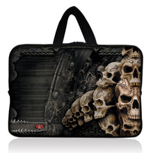 "Many Skull Design Sleeve Case Bag Cover +Handle For 7"" inch Barnes & Noble NOOK Tablet PC"