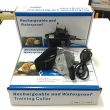 10set /lot*1dog 300M 100LV Shock Rechargeable and Waterproof remote Dog Pet Training Collar with LCD Display with blue backlight(China)