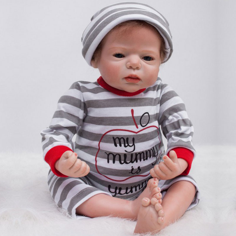 55cm Reborn Dolls 22inch Silicone Reborn Baby Doll Toys Lifelike Babies Bebe Boneca Newborn Babies Toys Brinquedos For Kids Gift<br><br>Aliexpress