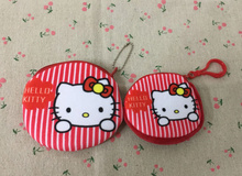 2Sizes- HOT Rose Color - 8cm and 10cm Hello Kitty Mini 7.5CM Coin Bag Purse , Key Hook Wallet Pouch , Pocket Coin BAG