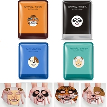 4 PCS BIOAQUA Skin Care Sheep/Panda/Dog/Tiger Four Types Optional Facial Mask Moisturizing Oil Control Cute Animal Face Masks(China)