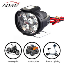 AOZBZ 6/9-Led Motorcycle Headlight Bulb Super Bright 10W/15W 1000Lm/1500Lm Fog Spotlights Working White Spot Light 9-85 V(China)
