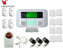 YobangSecurity 100 Wireless 4 Wired Guard Zones GSM PSTN Alarm System Security Home Russian Spanish English Voice Alarm Sensor