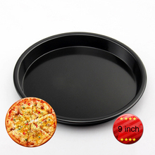 Factory Price 9 inch New Black Non Stick Aluminium Alloy Pizza Pans Cake Baking Pans, Baking Pans-010(China)