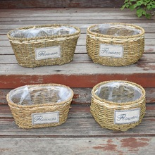 Willow flower pot planter flower arrangement flower basket hand woven baskets for home garden yard patio(China)