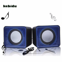 kebidu Mini USB 2.0 3.5mm Jack Multimedia Desktop Computer Notebook Speaker Music Stereo Home Theater Party Speaker for PC