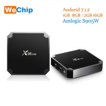 Wechip Amlogic S905W X96 Mini Android Tv Box 1G/8G 2G/16G Android 7.1.2 Quad Core Support 4K Media Player x96mini Set Top Box(China)