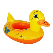 New Cartoon Designs Infant Baby Swimming Seat Ring Brand Pool Baby Inflatable Aid Trainer Duck style Float Boat EF0021