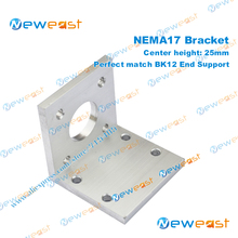High intensity rust-proof Center height 25mm  NEMA 17 L Bracket Mount Step Stepper Motor Perfect match BK12 support