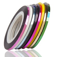 8Colors/lot Glitter Striping Tape Nail Art Line Sticker DIY Decals UV Gel Self-Adhesive Nail Tips Decoration Tool WY655