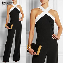 Buy Sexy Halter Neck Shoulder Long Women Jumpsuits 2018 Spring Summer Sleeveless Club Party Rompers Casual Playsuits Overalls XL