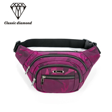 Classic Diamonds girl and boys waterproof nylon waist pack casual chest pack waist bag wallet women shoulder bags bolso cintura(China)