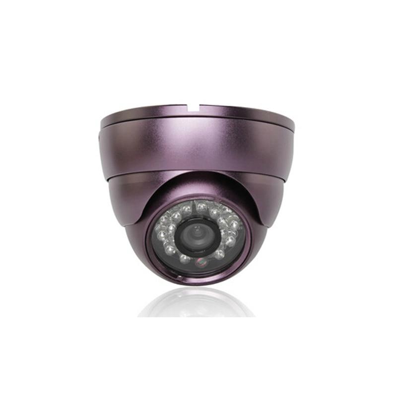 CMOS 600TVL CCTV purple metal Dome Security Camera 24IR LED Indoor Night Vision<br><br>Aliexpress
