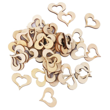 Hot 50pcs Hollow Wooden Heart Table Confetti Rustic Wedding Photo Props Wood Crafts Confetti Wedding Decoration