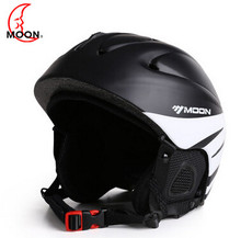 MOON 2016 Newest style Ski helmet professional skiing sports snow safety good quality helmet MS86 WITH VISOR