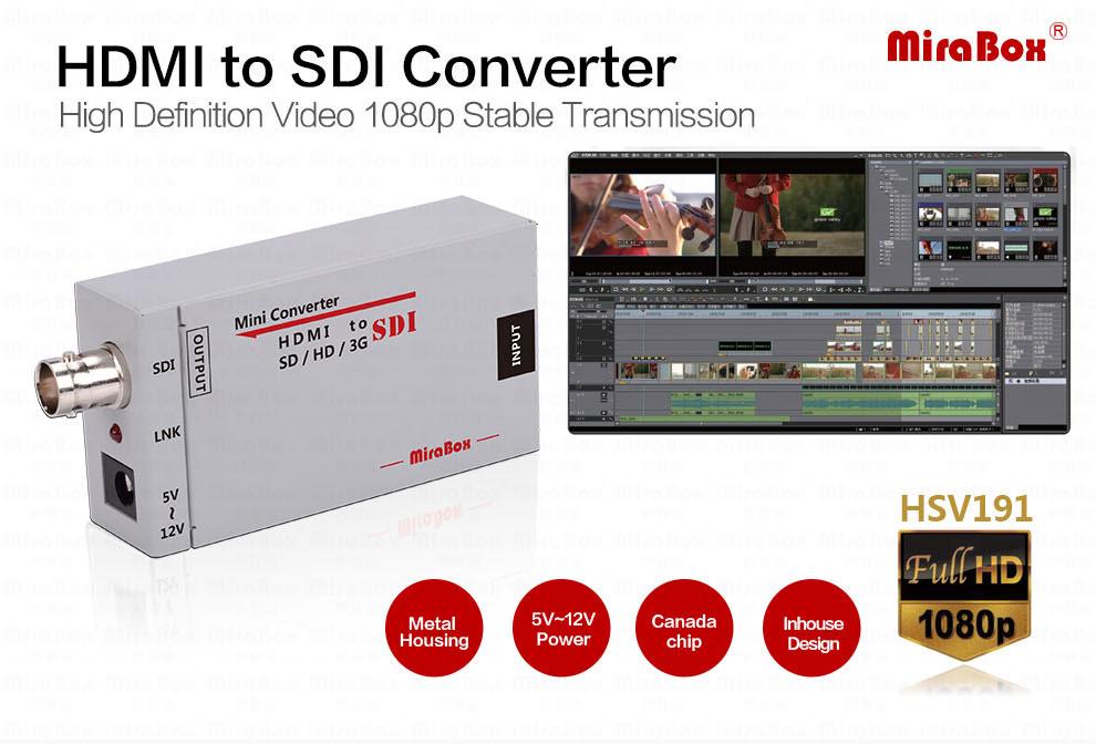 Mini 3g HDMI To SDI Converter Full HD 1080P HDMI to SDI Adapter Video Converter with Power Adapter for Driving HDMI Monitors (1)