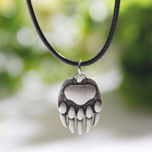Bear Paw Necklace Whippet Dog Lover Necklaces & Pendants Silver Body Jewlery Women Charm Statement Double Sides Christmas Gift(China)