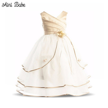 Aini BabePrincess Girl Dress Brand 2017 Girls Clothes Ceremonies Party Dresses For Girls Formal Evening Kids Party Wear Dress