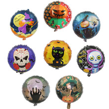 Cheap Witch Pumpkin Cat Flower Foil Balloons Digit Helium Ballons Birthday Halloween Party Wedding Decor Air Baloons Event Party(China)