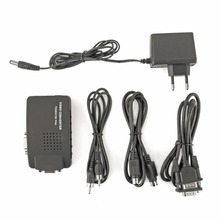 PC Laptop Composite AV/S Video To VGA TV Converter Monitor Adapter Switch Box LCD Out Converter Adapter Switch Box Black
