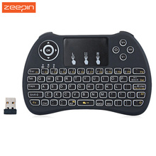 H9 Backlight Keyboard Rii i8+ 2.4Ghz Wireless Qwerty English Keyboard with Touchpad for Mini PC Smart  TV Box Laptop PC Backlit