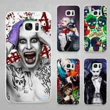 suicide squad Hard White Coque Shell Case Cover Phone Cases for Samsung Galaxy S4 S5 S6 S7 Edge Plus(China)
