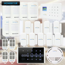 HOMSECUR Wireless GSM Home Security Fire Alarm System +Wireless Password Keypad